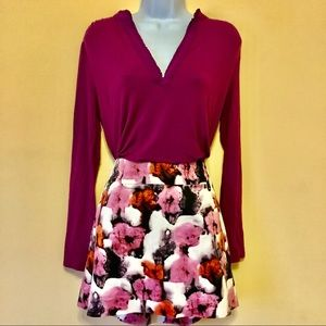 J. Crew Stretch Size 10 Floral Pattern Mid Skirt